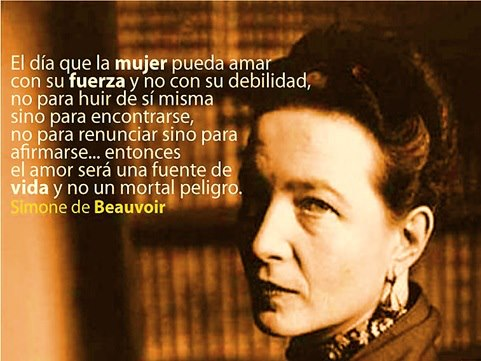 Frase de Simone de Beauvoir