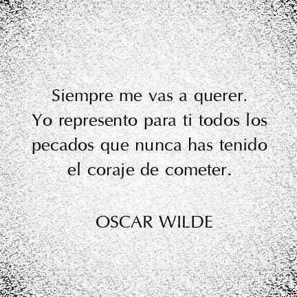 Cita de Oscar Wilde