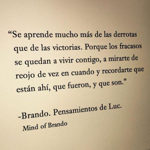 Brando, pensamientos de luc